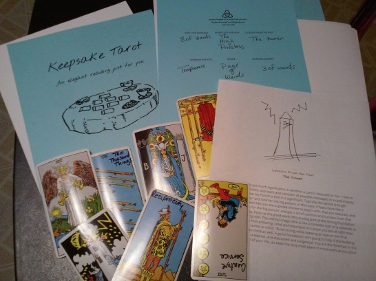 Hand Illustrated Keepsake Tarot Readings